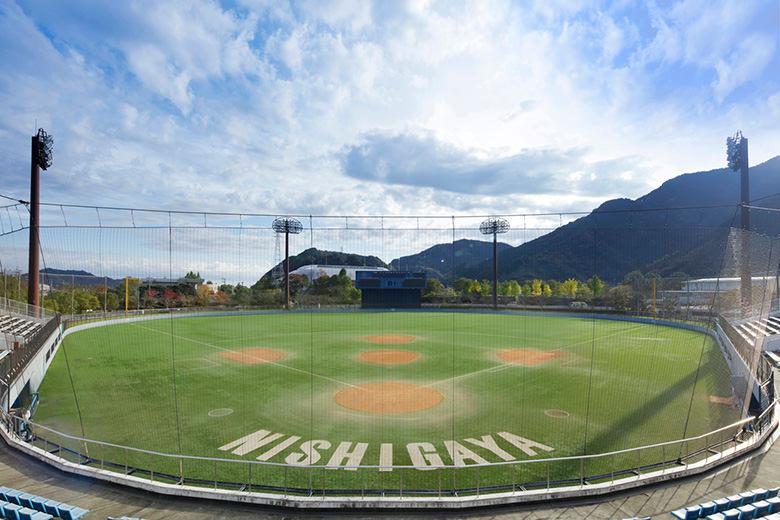 Campo del béisbol de la pelota de caucho